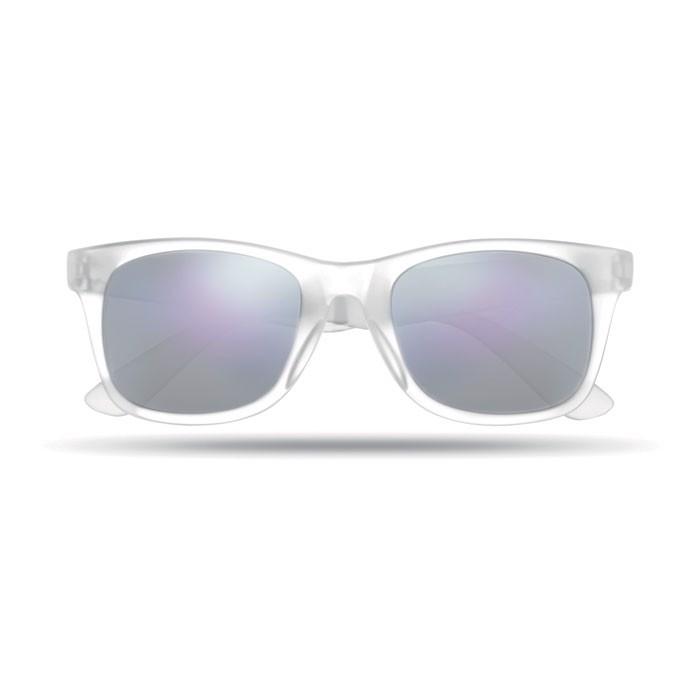 Lustrzane okulary przeciwsłon America Touch - przezroczysty