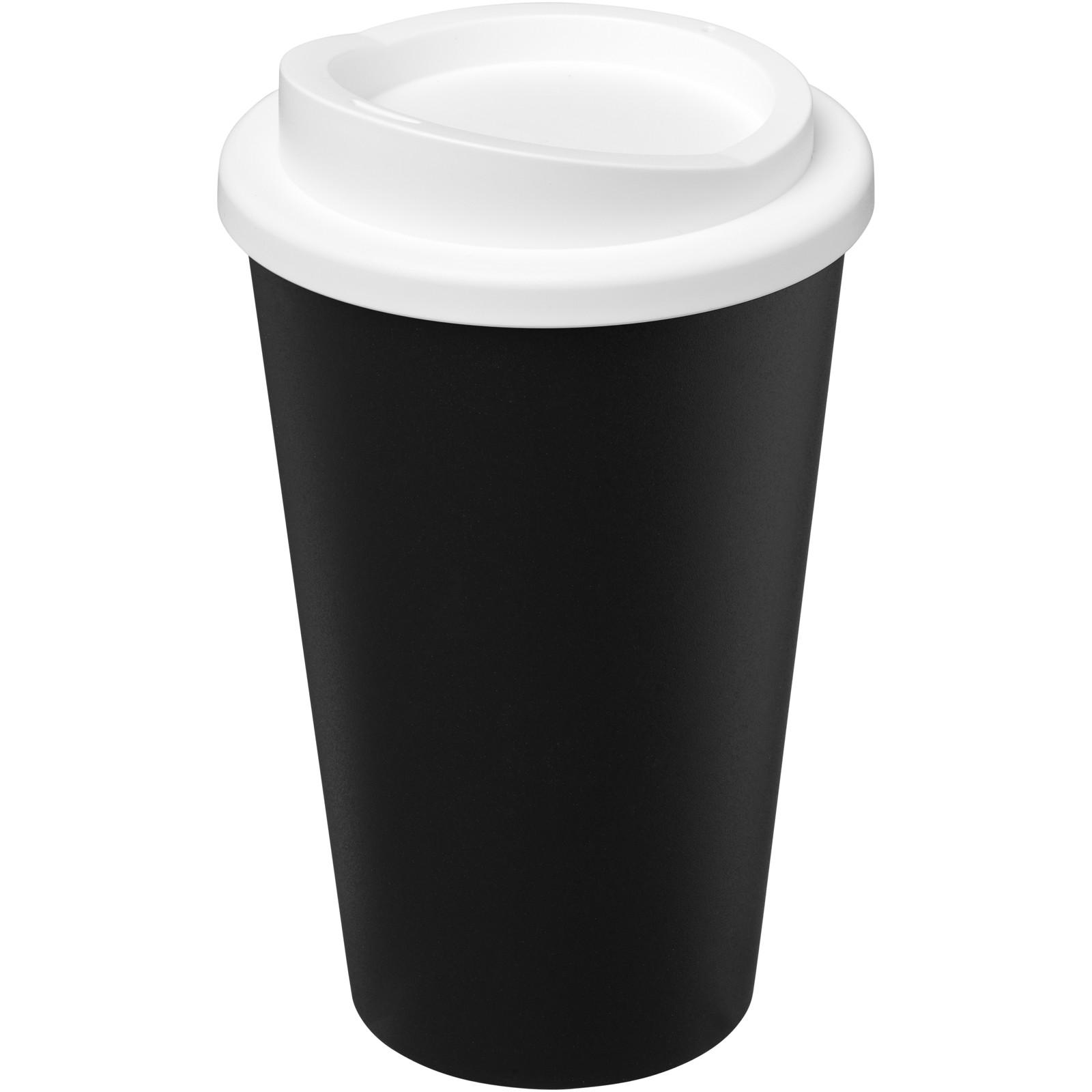 Americano Eco 350 ml recycled tumbler - Solid Black / White