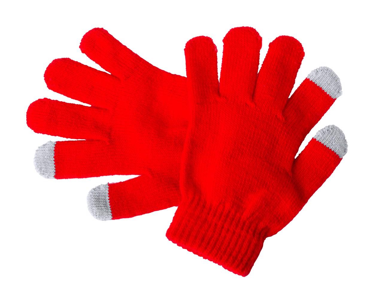 Mănuși Touch Pentru Copii Pigun - Roșu / Gri