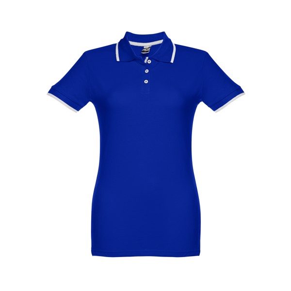 ROME WOMEN. Γυναικεία πόλο μπλούζα slimfit - Μπλε Ρουά / S