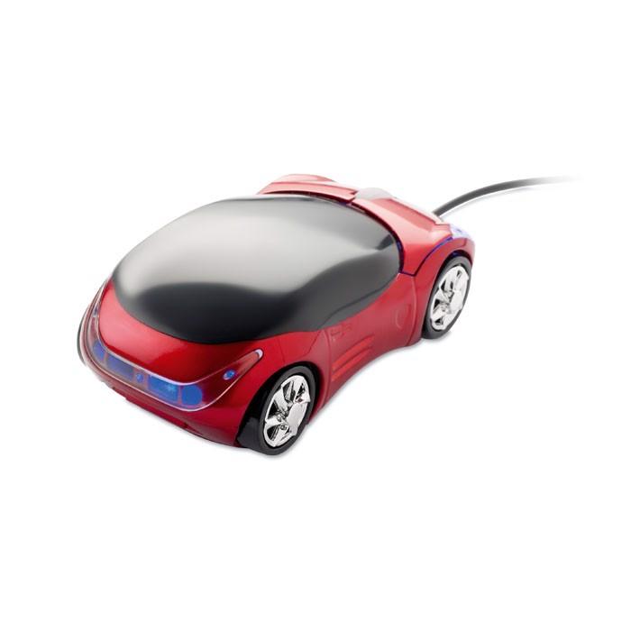 Mysz optyczna, samochód Minia - czerwony