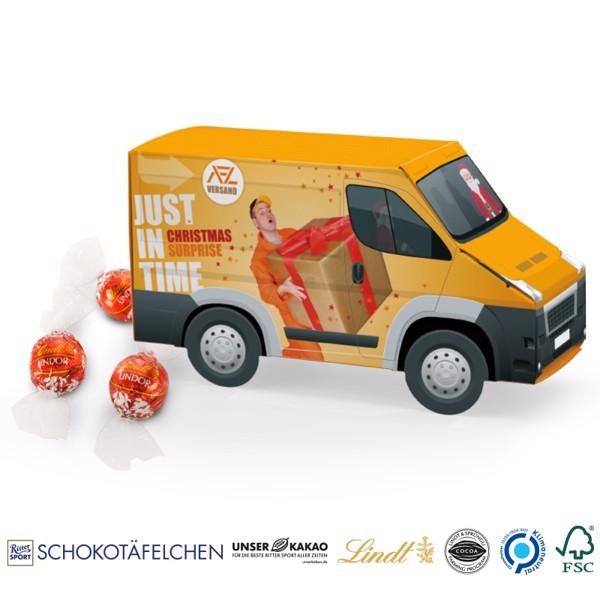 Transporter Präsent Lindor Milch Kugel - Weiß / Lindor Milch Kugeln