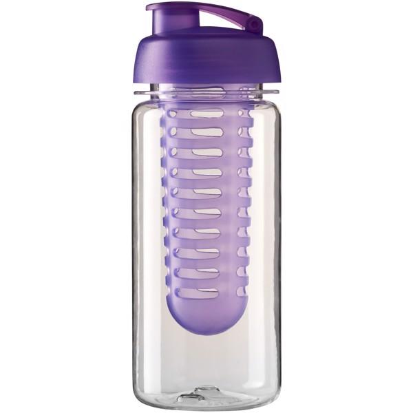 H2O Octave Tritan™ 600 ml flip lid bottle & infuser - Transparent / Purple