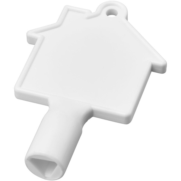 Maximilian house-shaped meterbox key - White