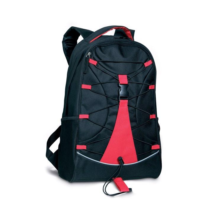 Czarny plecak Monte Lema - czerwony