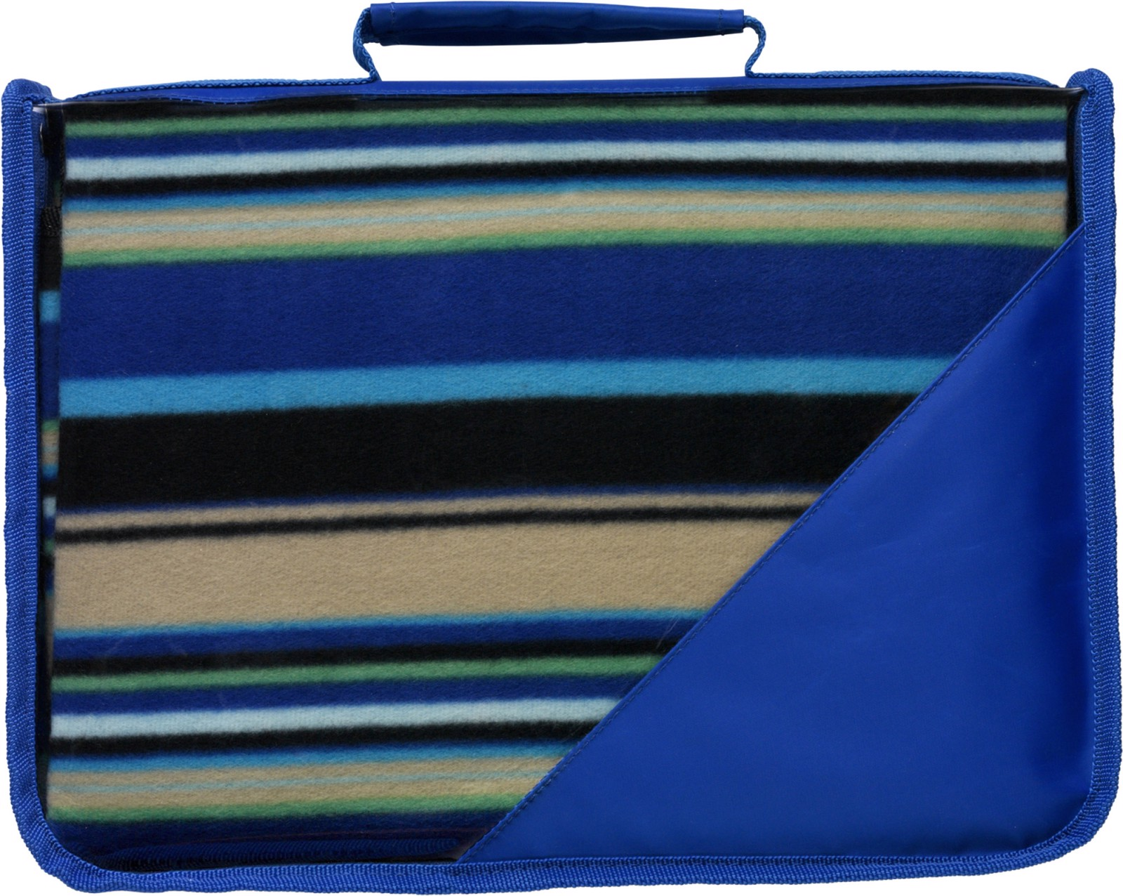 Fleece (150 gr/m²) blanket in pouch - Cobalt Blue