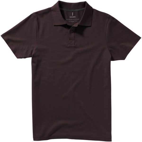 Seller short sleeve men's polo - Chocolate brown / XXL