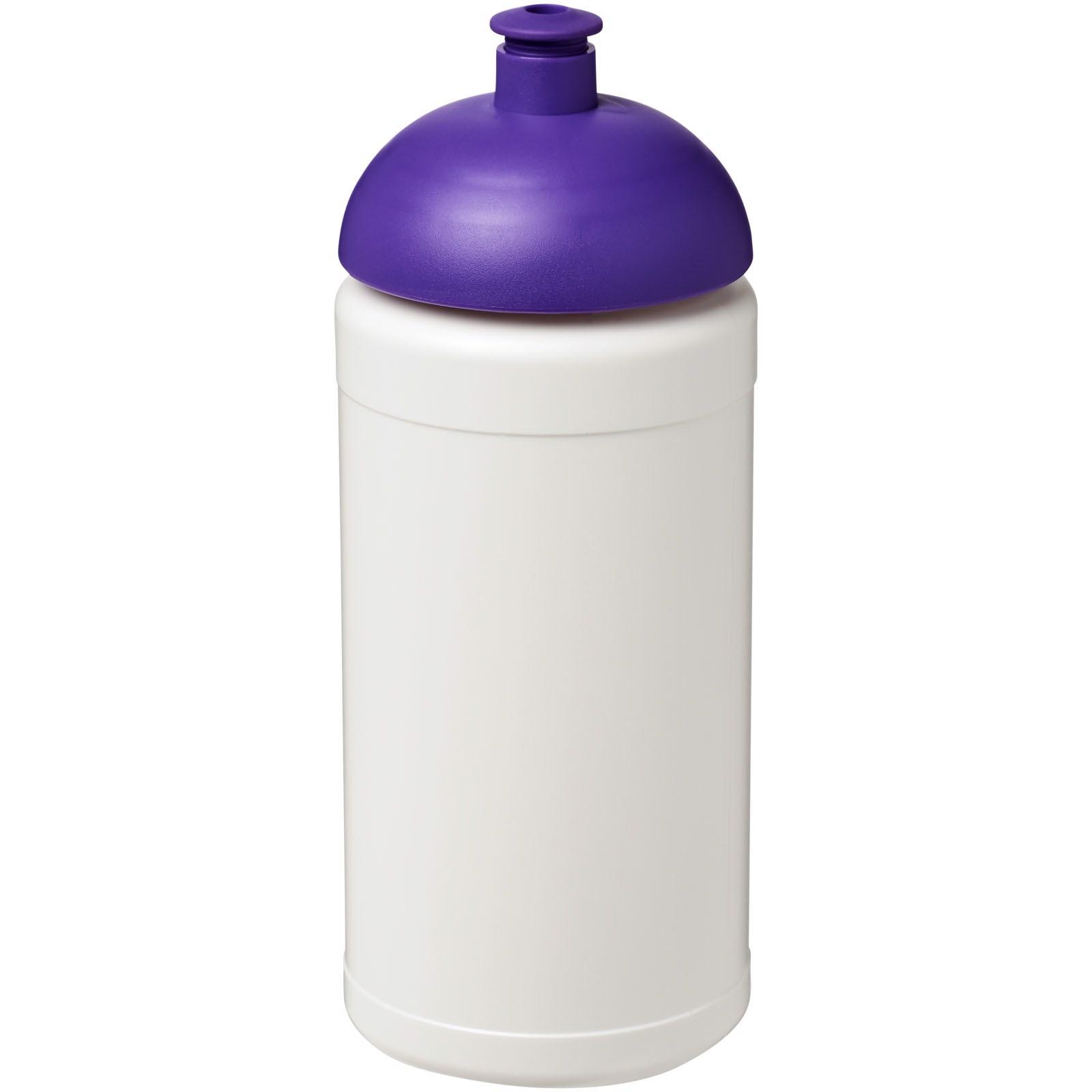 Sportovní láhev s kupolovitým víčkem Baseline® Plus 500 ml - Bílá / Purpurová