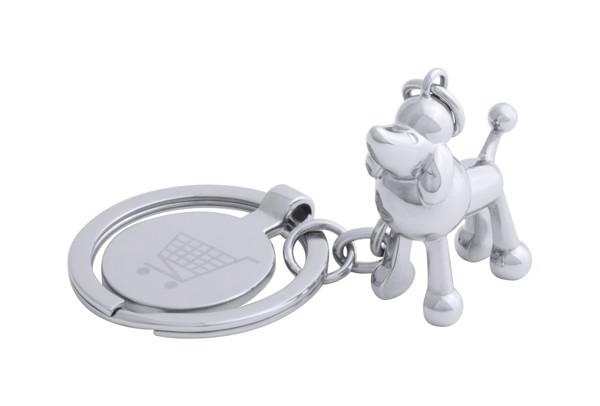 Přívěšek Na Klíče Se Žetonem Hoinzo, Pes - Stříbrná