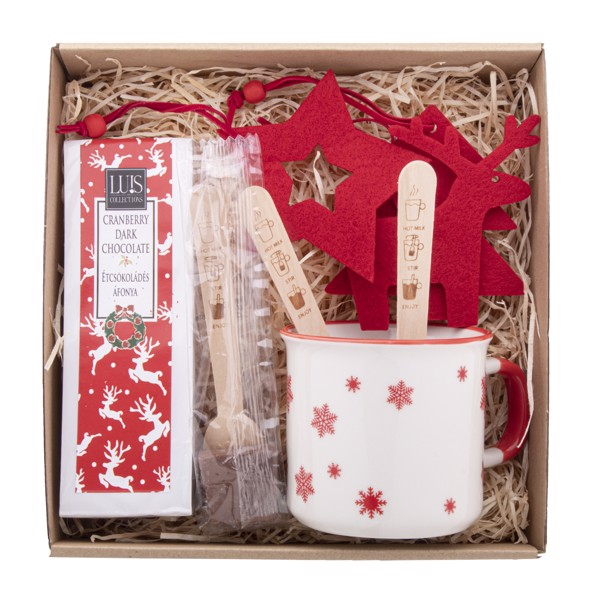 Hot Chocolate Gift Set Bruges - Natural
