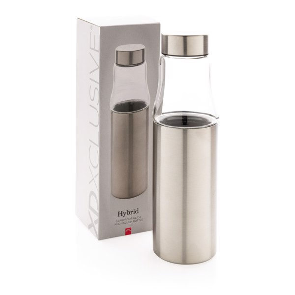 Hybrid leakproof glass and vacuum bottle - Silver