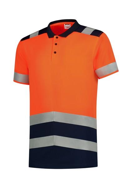 Polokošile unisex Tricorp Poloshirt High Vis Bicolor - Fluorescenční Oranžová / 3XL