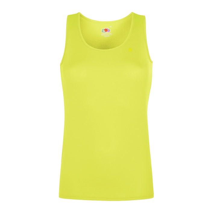 Damen T-Shirt Sport Lady-Fit Vest 61-418-0 - Bright Yellow / XS