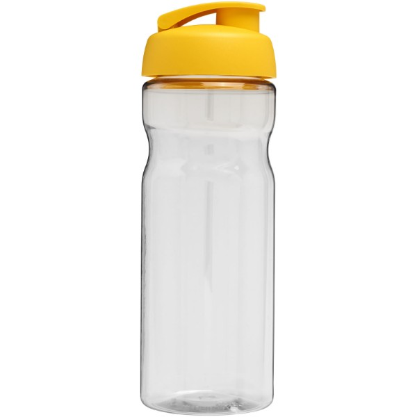 Sportovní láhev s vyklápěcím víčkem H2O Base® 650 ml - Průhledná / Žlutá