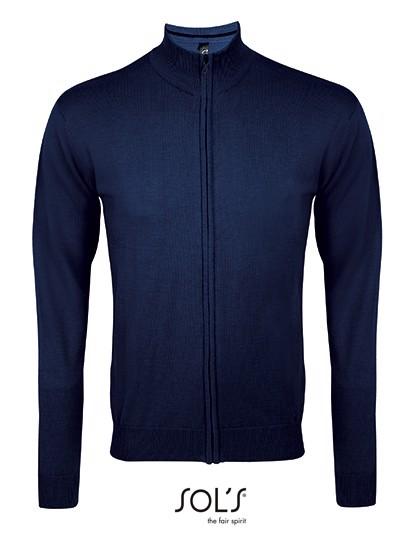 Zipped Knitted Cardigan Gordon Men - Navy / M