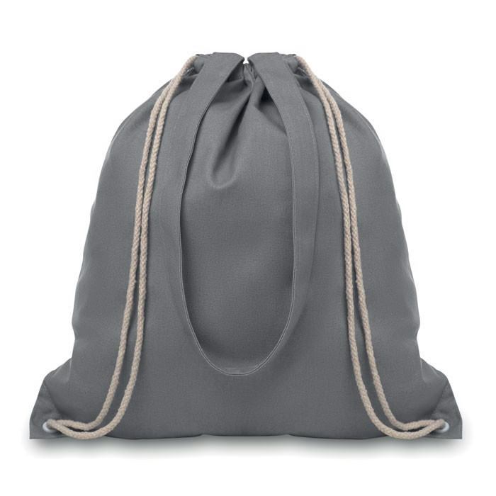 Drawstring and handles bag Moira - Grey