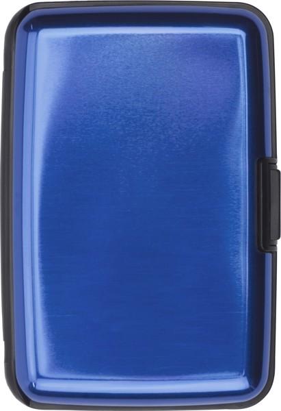 Aluminium credit/business card case - Cobalt Blue