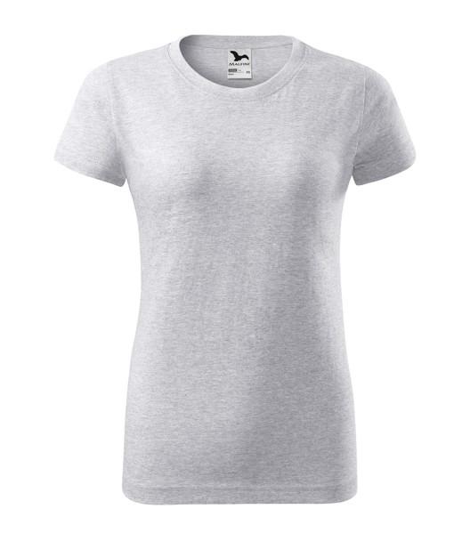 T-shirt women's Malfini Basic - Ash Melange / M