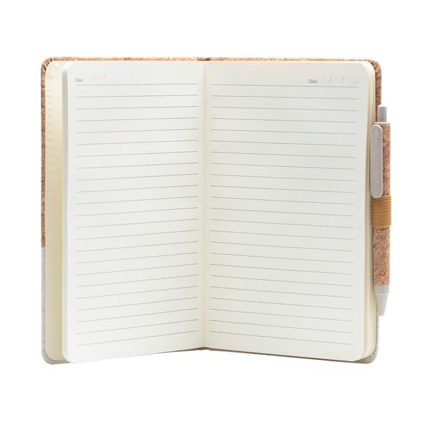Zestaw z notesem Blanes - Biały