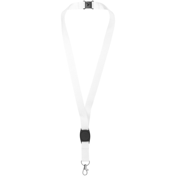 Gatto lanyard with break-away closure - White