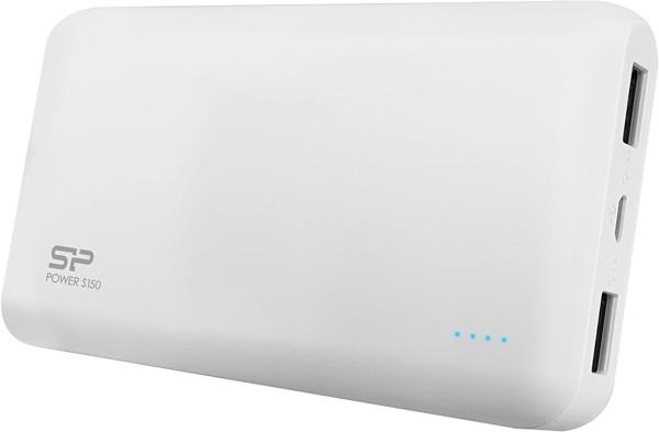 SILICON POWER  Power Bank 15000mAH podwójne wyjście USB LED - BIAŁY