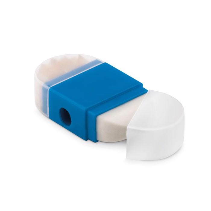 Sharpener and eraser Goma2 - Blue