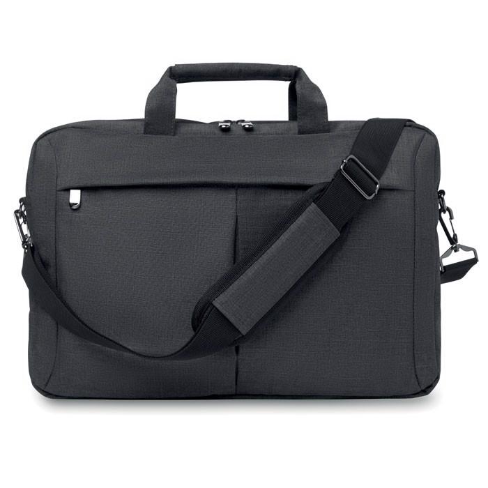 Laptop bag in 2 tone 360d Stockholm - Grey