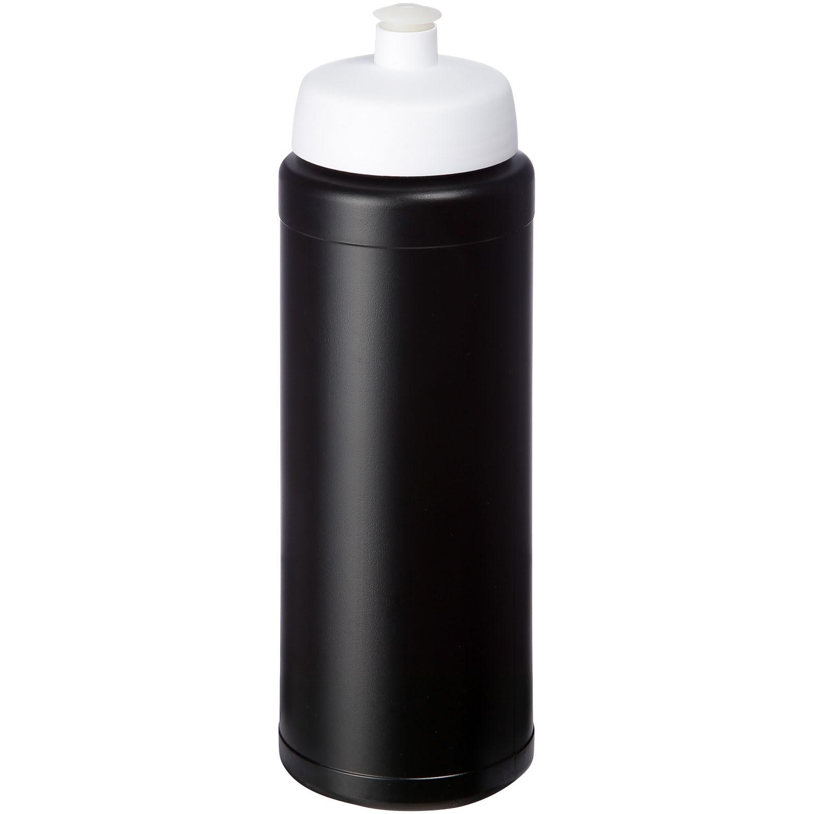 Baseline® Plus 750 ml lahev se sportovním víčkem - Černá / Bílá