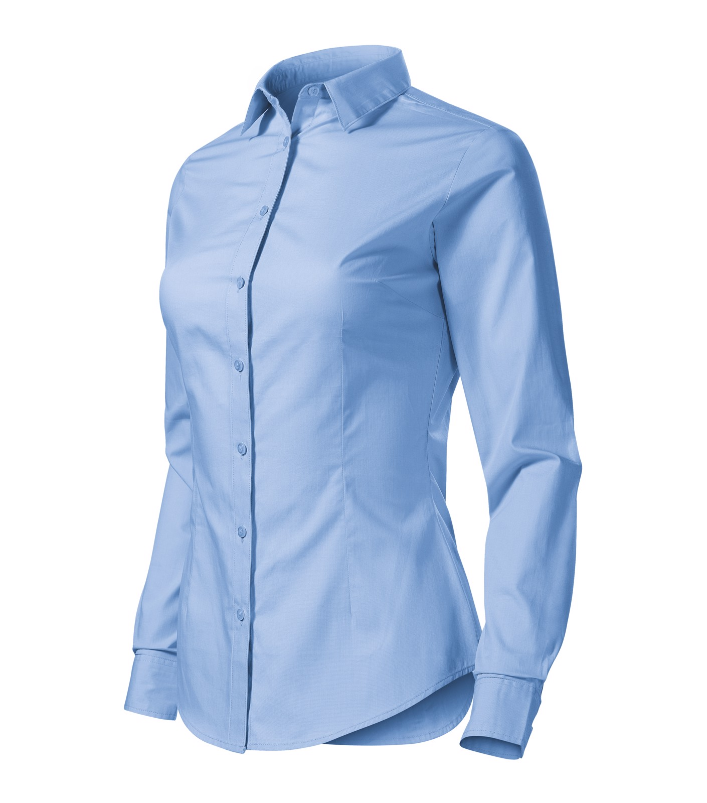 Košile dámská Malfini Style LS - Nebesky Modrá / S