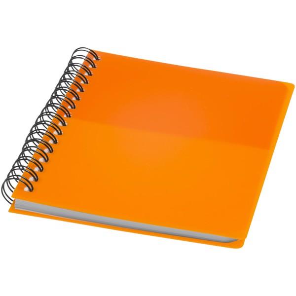 Barevný kroužkový zápisník A6 - 0ranžová