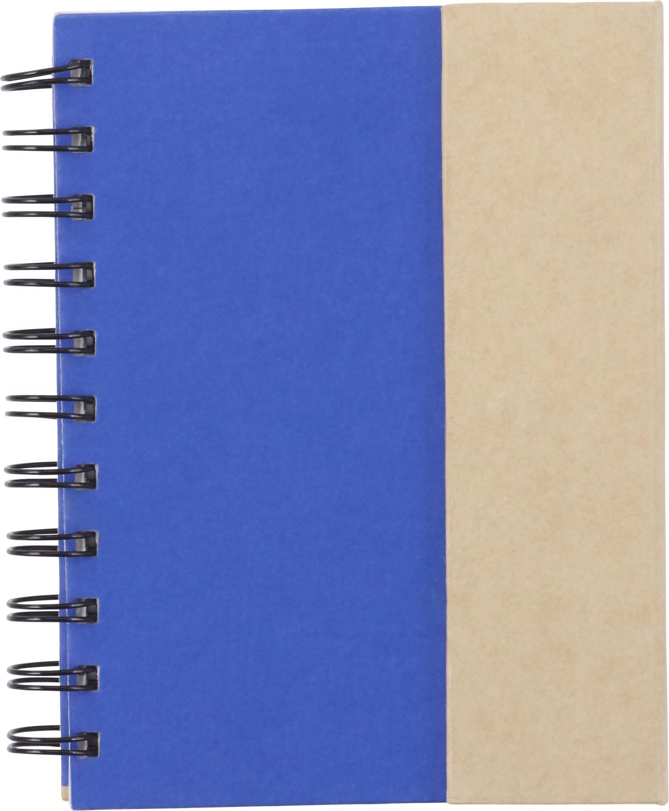 Coardboard notebook - Cobalt Blue