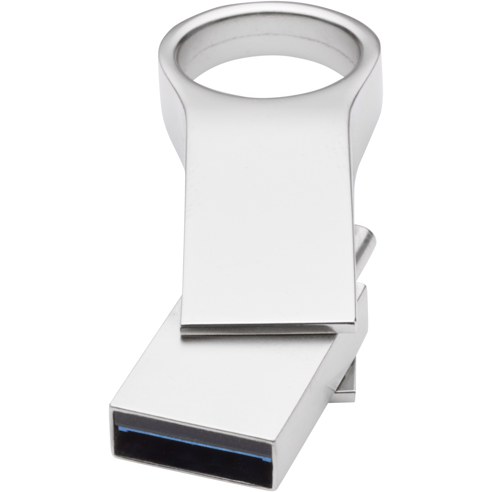 Type C USB 3.0 round large - Silver / 32GB