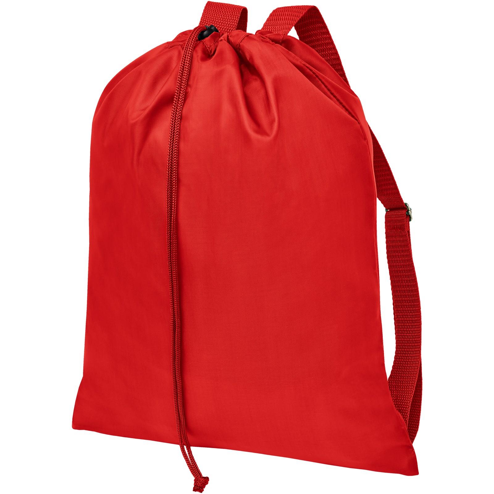Oriole šnůrkový batoh spopruhy - Červená s efektem námrazy