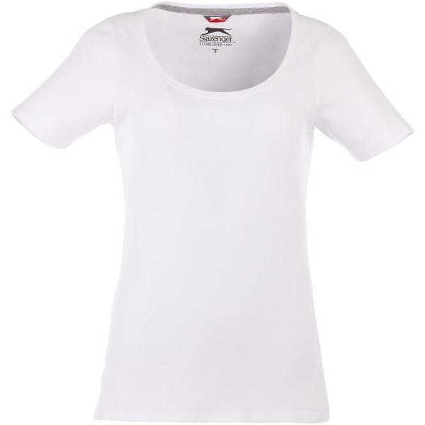 Dámské triko Bosey s hlubším kulatým výstřihem - Bílá / M