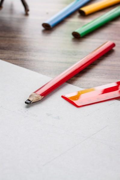 Dřevěná Tužka Carpenter - Červená
