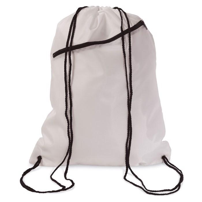 190T Polyester drawstring bag Bigshoop - White
