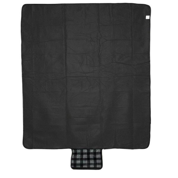 Park Picknickdecke aus Fleece mit Klettverschluss - Schwarz
