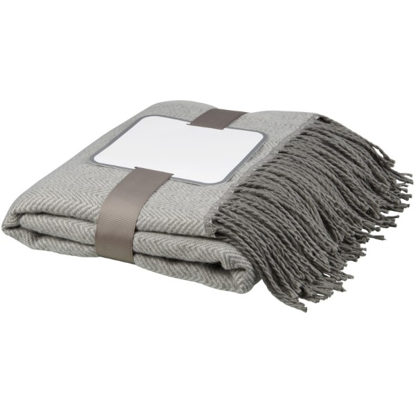 Haven herringbone throw blanket - Grey