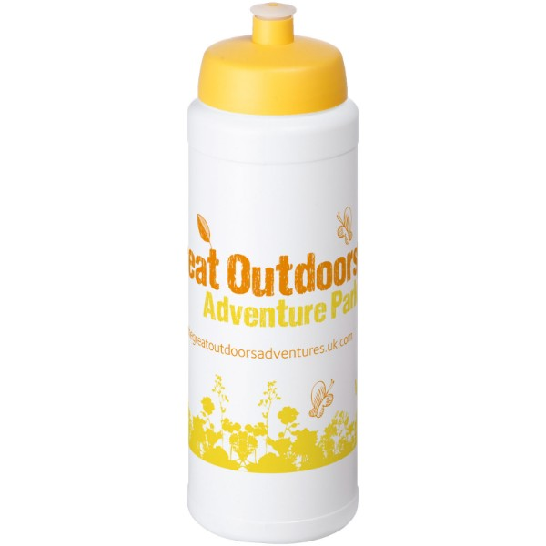 Baseline® Plus 750 ml bottle with sports lid - White / Yellow