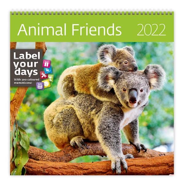 Měsíční kalendář Animal Friends 2022