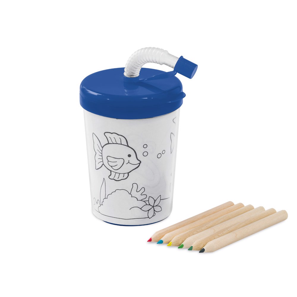 TEJO. Travel cup in PP and PS - Blue