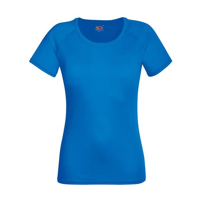Ladies T-Shirt Sports Lady-Fit Performance 61-392-0 - Royal / XXL