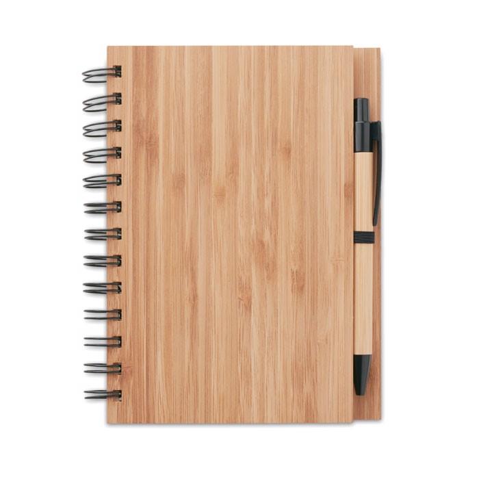 Bamboo notebook with pen Bambloc