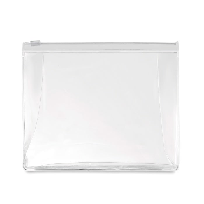 Cosmetic pouch with zipper Cosmobag - Transparent White