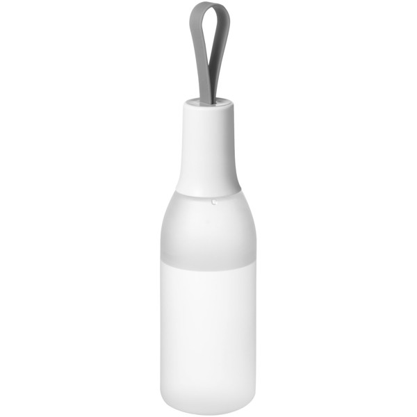Flow 650 ml sport bottle with carrying strap - Frosted clear / White