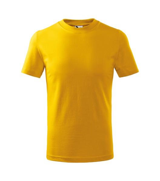 Tričko dětské Malfini Basic - Žlutá / 122 cm/6 let