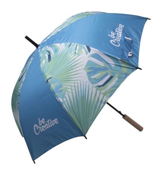 Deštník Na Zakázku CreaRain Eight RPET - Bílá / Hnědá