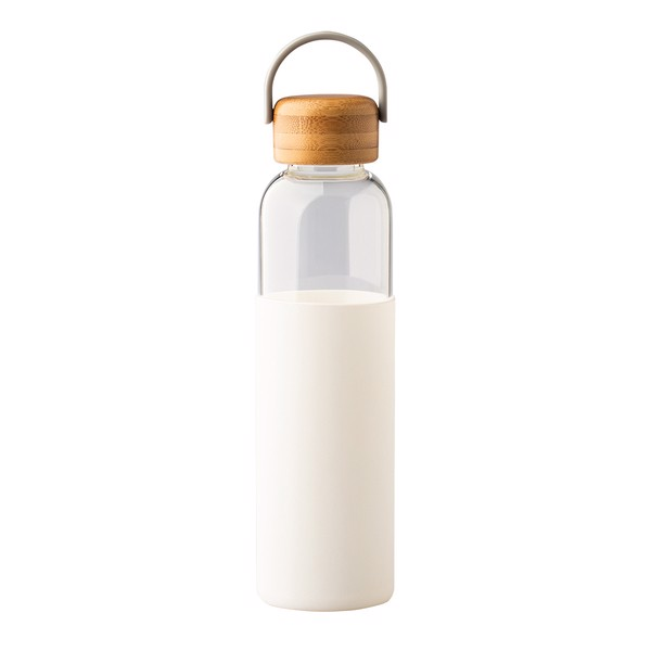 Szklana butelka Refresh 560 ml - Biały