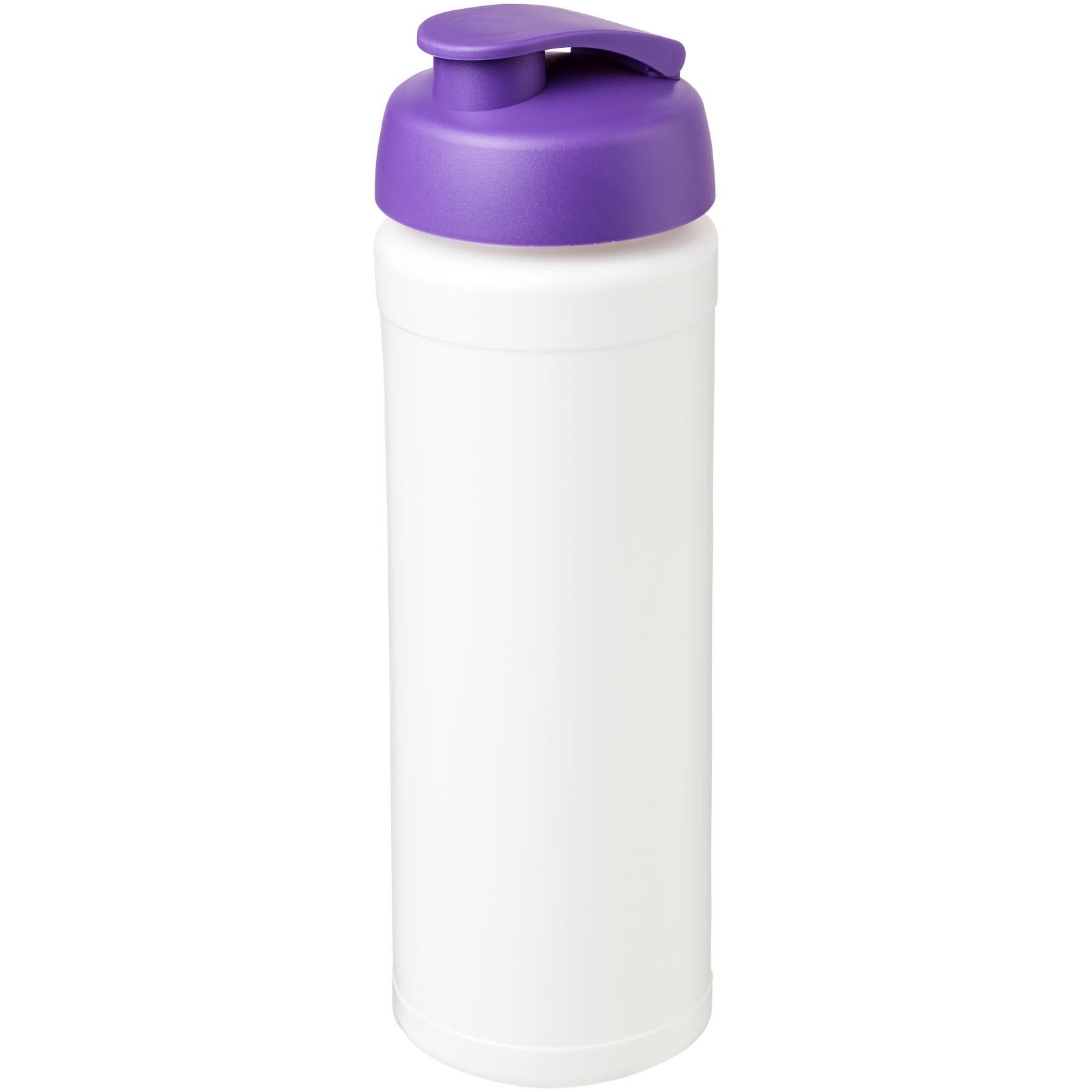 Baseline® Plus grip 750 ml flip lid sport bottle - White / Purple
