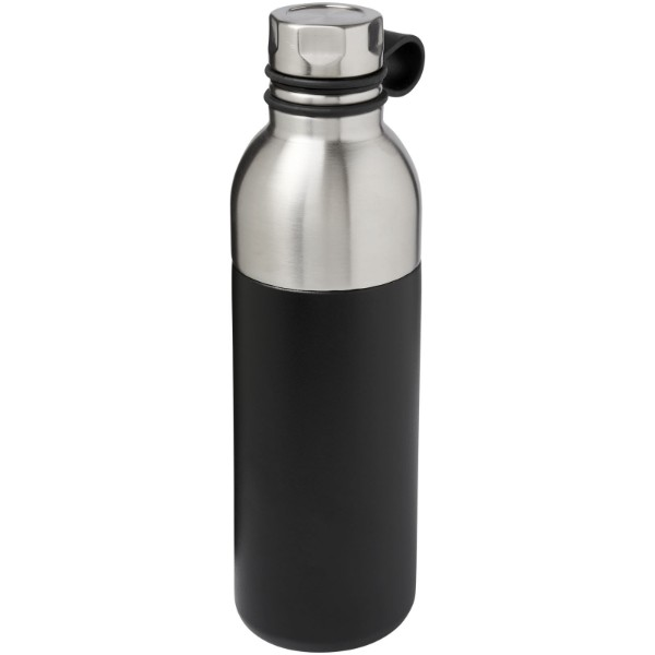 Koln 590 ml copper vacuum insulated sport bottle - Solid black